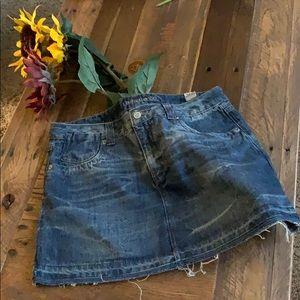 NWT Distressed denim skirt